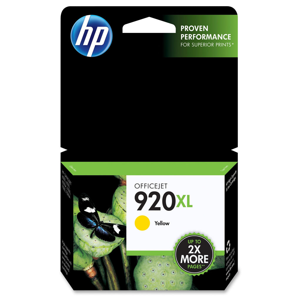 Original HP 920XL, CD974AN Ink Cartridge High Yield - Yellow - 700 Pages