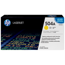 OEM HP CE252A, 504A Laser Toner Cartridge - Yellow - 7K
