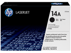 OEM HP CF214A, 14A Toner Cartridge, LaserJet Enterprise 700 M712DN Black- 10K