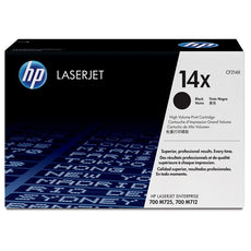 OEM HP CF214X, 14X Toner Cartridge, LaserJet Enterprise 700 M712DN Black - 17K