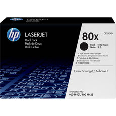 OEM HP 80X, CF280XD (2 Pack) LaserJet Toner Cartridge Black - 6.9K