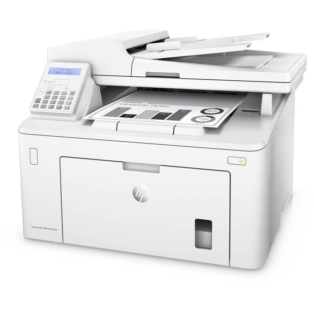 Hp Laserjet Pro M227fdn Laser Multifunction Printer - Monochrome - Copier/fax/printer/scanner