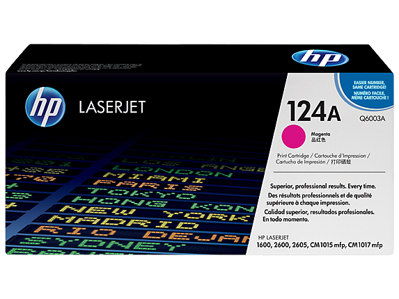 OEM HP Q6003A, 124A Toner Cartridge For Color LaserJet 1600, 2600, 2605 Magenta - 2.5K