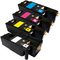 Compatible Dell C1660 Toner Cartridges for Black, Cyan, Yellow, Magenta - Value Pack
