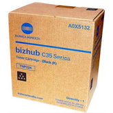 Konica Minolta A0X5132, TNP22K OEM Toner Cartridge For Bizhub C35 Black - 5.2K