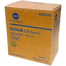 Konica Minolta A0X5232, TNP22Y OEM Toner Cartridge For Bizhub C35 Yellow - 4.6K
