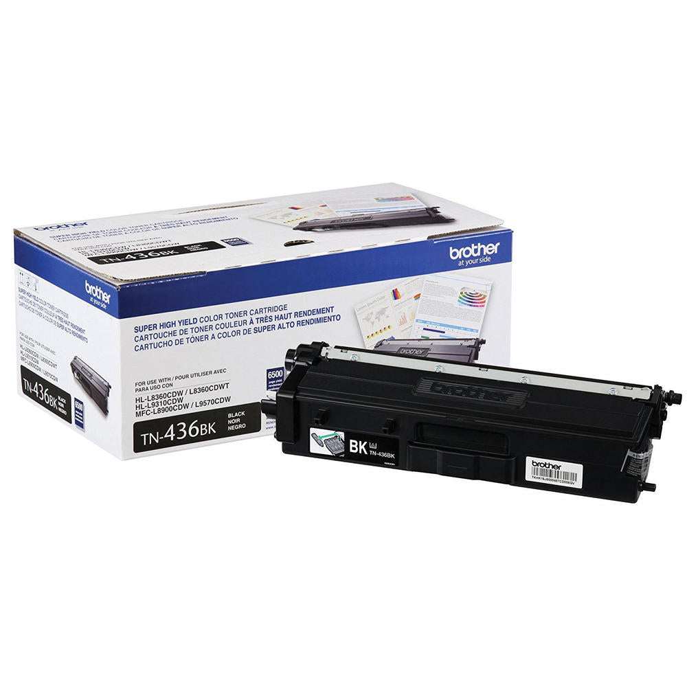 Original Brother TN436BK Toner Cartridge - Black - Standard Yield - 6500 Pages