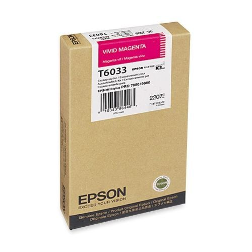 Epson Vivid Magenta Ultrachrome K3 Ink Cartridge (220 Ml)