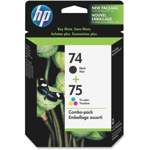 OEM HP 74/75, CC659FN Ink Cartridge - Tri-Color, Black - Value Pack