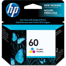 Original HP 60, CC643WN Ink Cartridge - Tri-color Cyan, Magenta, Yellow - 165 Pages