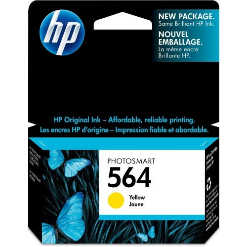 Original HP 564, CB320WN Ink Cartridge - Yellow - 300 Pages