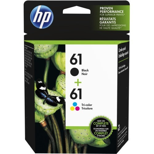 Hp 61, CR259FN Ink Cartridge - Black, Cyan, Magenta, Yellow - Inkjet - 2 Pack