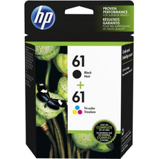 Original HP 61, CR259FN Ink Cartridge - Black, Cyan, Magenta, Yellow - Inkjet - 2 Pack