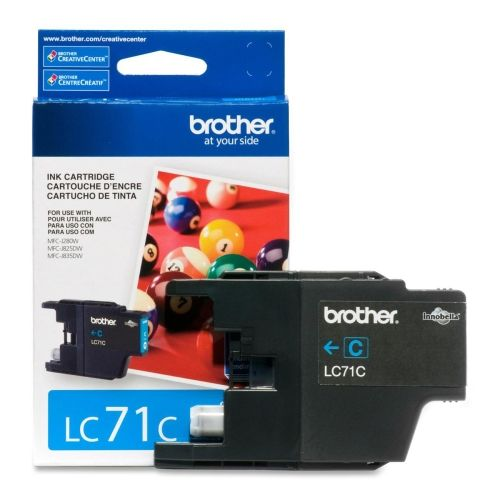 OEM Brother LC71C Ink Cartridge Cyan Standard Yield - 300 Pages