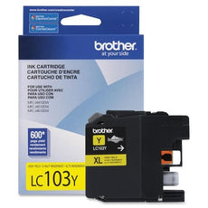 OEM Brother LC103YS Ink Cartridge - High Yield - Yellow - 600 Page