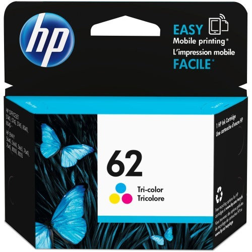 OEM HP 62, C2P06AN Ink Cartridge Tri-Color - Cyan, Magenta, Yellow - 165 Pages