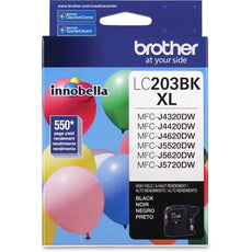 OEM Brother LC203BKS Ink Cartridge - Black - High Yield - 550 Pages