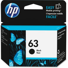 OEM HP 63, F6U62AN Ink Cartridge - Black - 190 Page - 1 Each