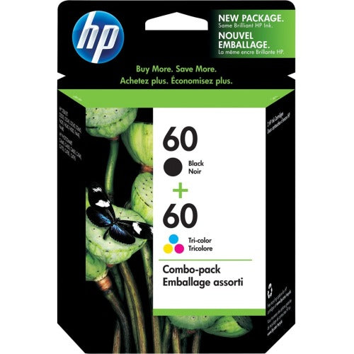 HP 60, N9H63FN OEM Ink Cartridges - 200 Page Black, 165 Page Tri-color - 2 / Pack
