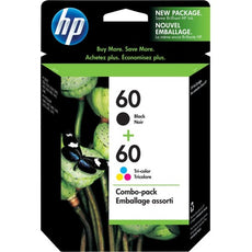 Original HP 60, N9H63FN Ink Cartridges - 200 Page Black, 165 Page Tri-color - 2 / Pack