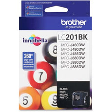 OEM Brother LC201BKS, LC201 Ink Cartridge - Black - Standard Yield - 260 Pages
