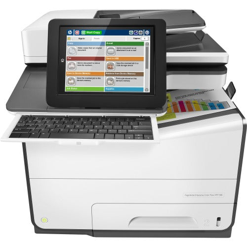HP PageWide Enterprise 586z Page Wide Array Multifunction-Color Printer - Copier/Fax/Printer/Scanner