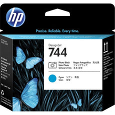 Original HP 744, F9J86A Inkjet Printhead - Photo Black/Cyan