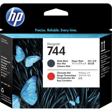 Original HP 744, F9J88A Inkjet Printhead - Matte Black/Chromatic Red