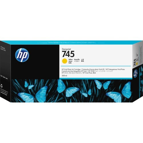 Original HP 745, F9K02A Inkjet Ink Cartridge - Yellow - 300ml