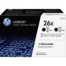 OEM HP 26X, CF226XD LaserJet Toner Cartridges Black - Double Pack- 2x 9K