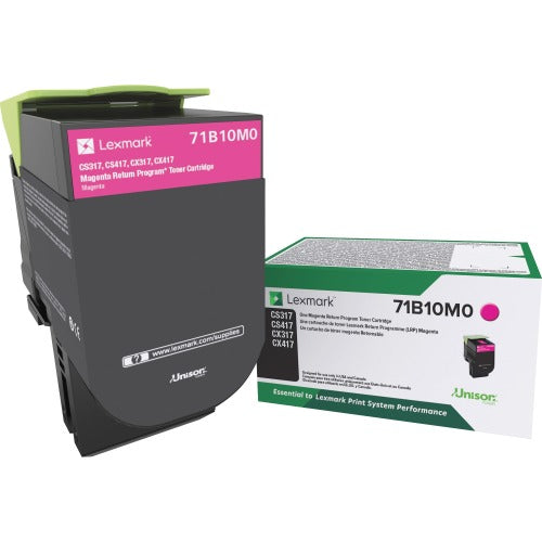 Lexmark 71B10M0 OEM Return Program Toner Cartridge - Magenta - 2.3K