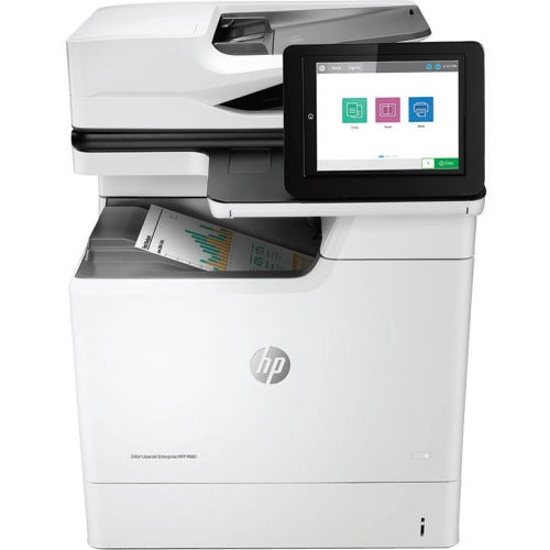 HP LaserJet M681f Laser Multifunction Printer - Color - Copier/Fax/Printer/Scanner - Automatic Duplex Print