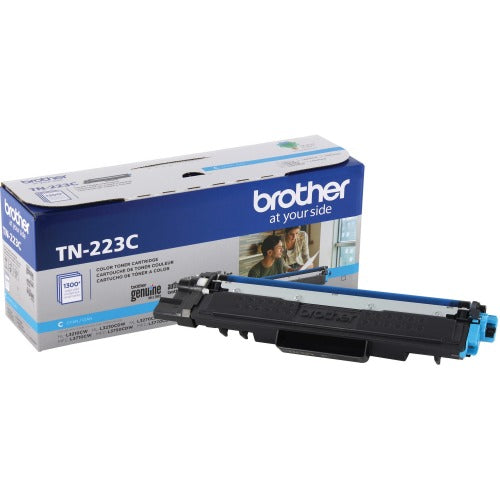 Brother Genuine TN-223C Standard Yield Cyan Toner Cartridge - 1300 Pages