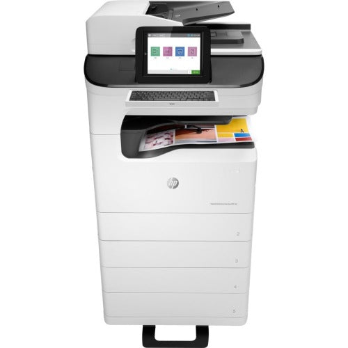 HP PageWide Enterprise 785z+ Page Wide Array Multifunction Printer - Color - Floor Standing - Copier/Fax/Printer/Scanner - Automatic Duplex Print