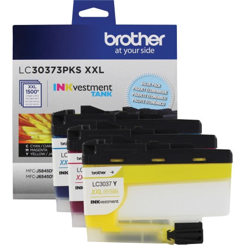 Brother LC30373PKS OEM Ink Cartridges - Super High Yield - 1500 Pages - 3 Pack