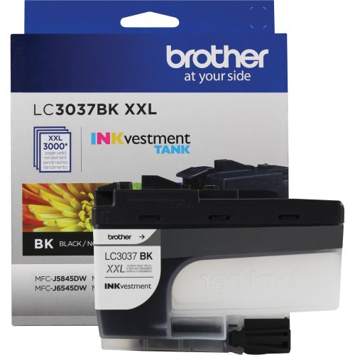 Brother Genuine LC3037BKS Super High-yield Black INKvestment Tank Ink Cartridge - Inkjet - Super High Yield - 3000 Pages - 1 Pack