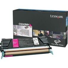 OEM Lexmark C5242MH Toner Cartridge Magenta - High Yield (5,000 Yield)