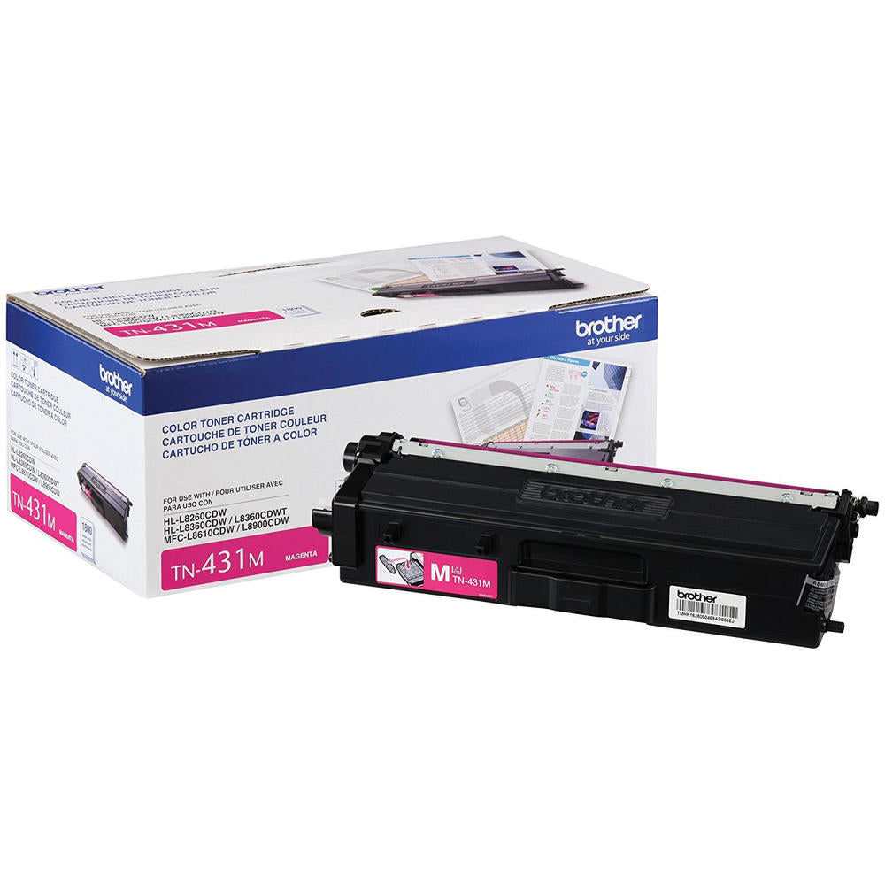 Original Brother TN431M Toner Cartridge - Magenta - Standard Yield - 1800 Pages