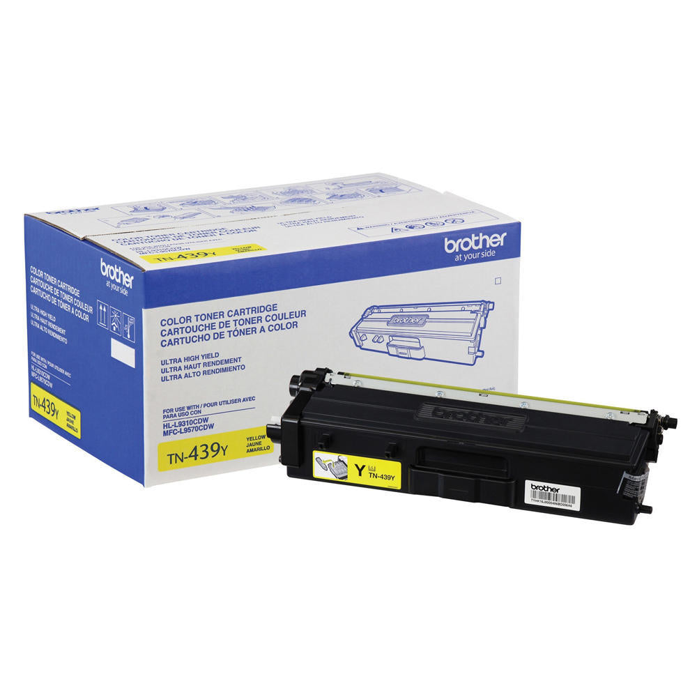 Brother TN439Y Original Toner Cartridge - Yellow - Ultra High Yield - 9000 Pages