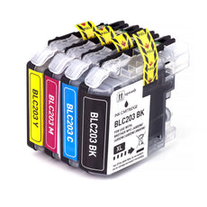 Compatible Brother LC-203XL Ink Cartridges for LC203BK, LC203C, LC203Y, LC203M - Value Pack