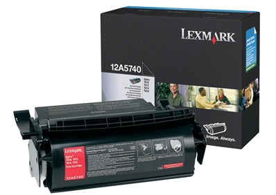 Lexmark 12A5740 OEM Toner Cartridge For Optra T610 Black - 10K