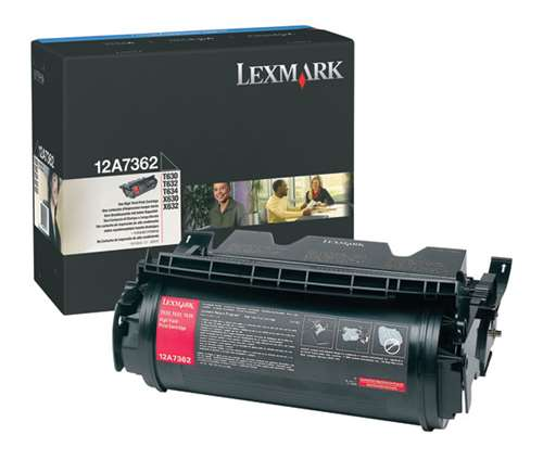 Lexmark 12A7362 OEM Toner Cartridge For T630 Black - 21K