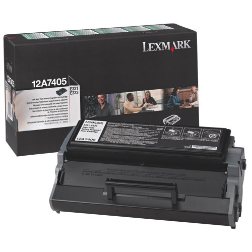 Lexmark 12A7405 OEM Toner Cartridge For E321 Black - 6K
