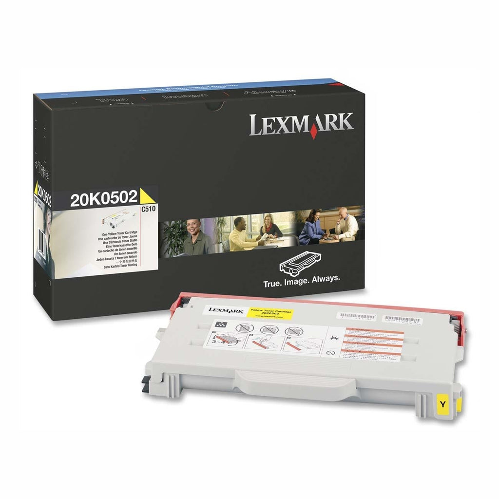 Lexmark 20K0502 OEM Toner Cartridge For C510 Yellow - 3K