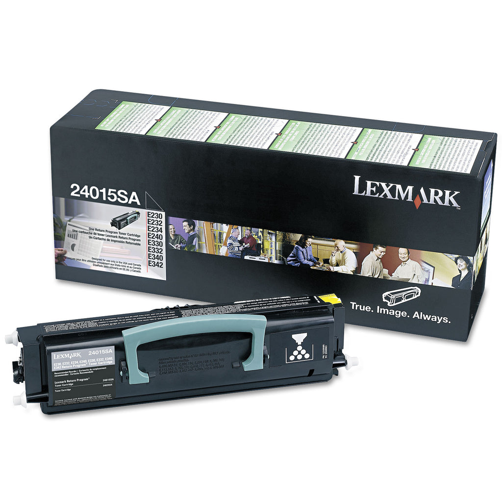 Lexmark 24015SA, 12A8300 OEM Toner Cartridge For E230 Black - 2.5K