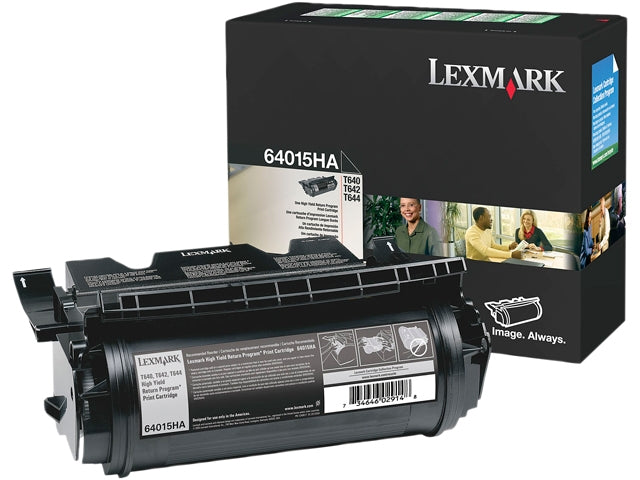 OEM Lexmark 64015HA, T640, T642, T644 Toner Cartridge - Black - 21K