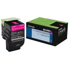 OEM Lexmark 80C1XM0, 801XM Toner Cartridge For CX510 Magenta - 4K