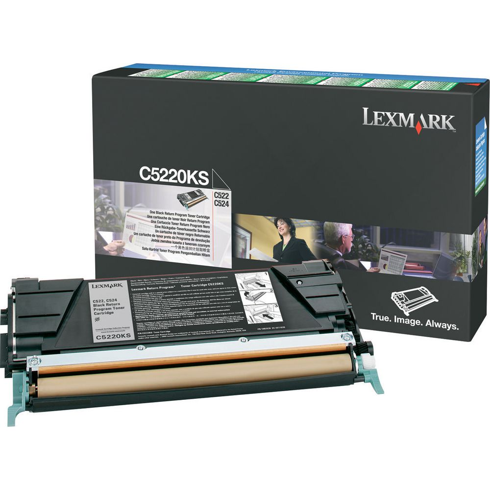 Lexmark C5220KS OEM Toner Cartridge For C522, C534 Black - 4K