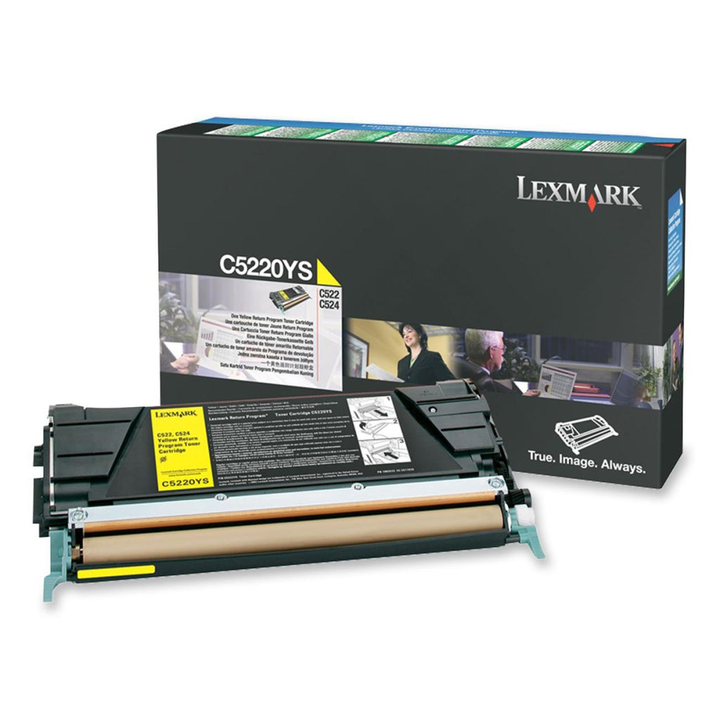 Lexmark C5220YS OEM Toner Cartridge For C522, C534 Yellow - 3K