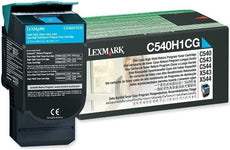 Lexmark C540H1CG OEM Toner Cartridge For C540 Cyan - 2K